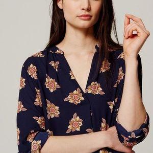LOFT Faraway Floral Tunic Blouse
